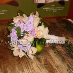 Νυφική Ανθοδέσμη με Ορχιδέες και λιλά Τριαντάφυλλα