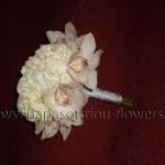 Νυφική Ανθοδέσμη λευκή με Ορχιδέες και Ορτανσίες