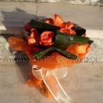 Νυφική Ανθοδέσμη με Τριαντάφυλλα σε πορτοκαλί χρώμα