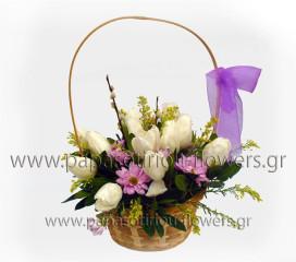 Καλάθι με λουλούδια 1