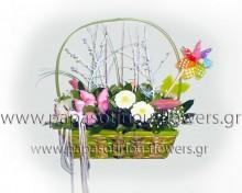 Καλάθι με λουλούδια 4