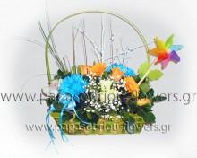 Καλάθι με λουλούδια 5