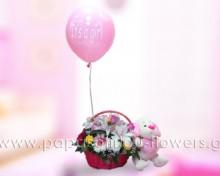 Καλάθι για νεογέννητο κοριτσάκι 2