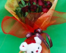 Valentine Roses and Love Bear