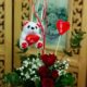 Valentine red roses basket
